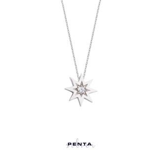 Penta Silver - Tektaş Kutup Yıldızı Gümüş Kolye (1)