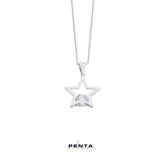 Penta Silver - Tektaş Yıldız Gümüş Kolye (1)