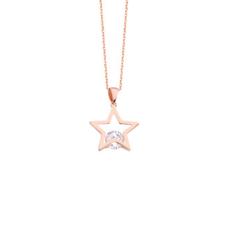 Tektaş Yıldız Gümüş Kolye - Thumbnail