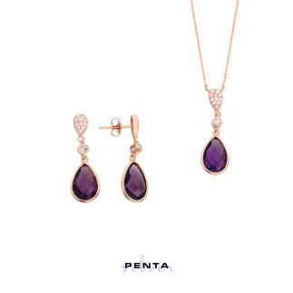 Penta Silver - Tohumlu Damla Gümüş Takı Seti (1)