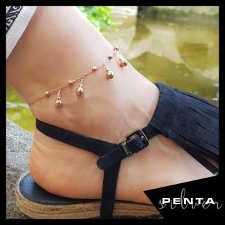 Penta Silver - Top Sallantılı Gümüş Halhal (1)