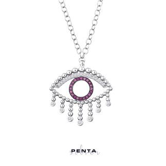 Penta Silver - Toplu Göz Gümüş Kolye (1)