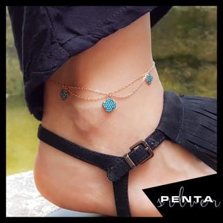 Penta Silver - Üçlü Yonca Gümüş Halhal (1)