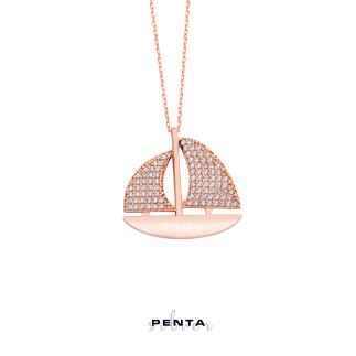 Penta Silver - Ufka Yolculuk Yelkenli Gümüş Kolye