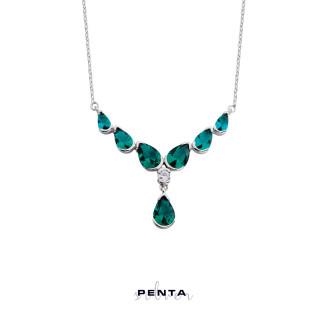 Penta Silver - V Damla Gümüş Kolye (1)
