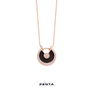 Penta Silver - V Kesim Sedefli Gümüş Kolye (1)