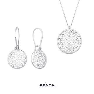Penta Silver - Yaşam Çiçeği Gümüş Takı Seti