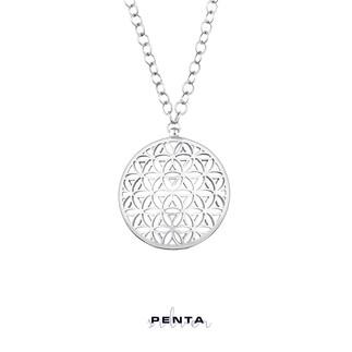Penta Silver - Yaşam Çiçeği Tasarım Gümüş Kolye (1)