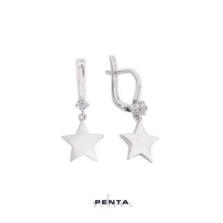 Penta Silver - Yıldız Gümüş Küpe (1)