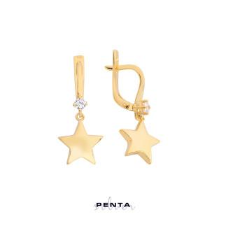 Yıldız Gümüş Küpe - Thumbnail