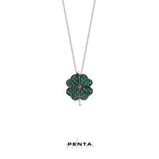 Penta Silver - Yonca Gümüş Kolye