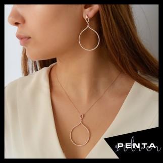 Penta Silver - Yuvarlak Gümüş Takı Seti