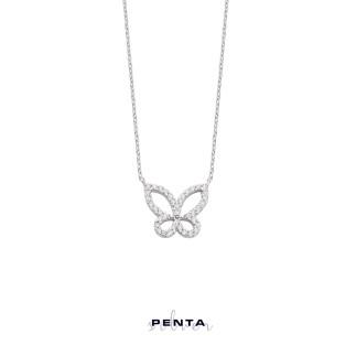 Penta Silver - Zarif Kelebek Gümüş Kolye (1)