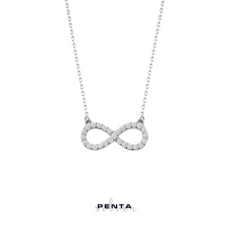 Penta Silver - Zarif Sonsuzluk Gümüş Kolye