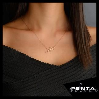 Penta Silver - Zeytin Dalı Gümüş Kolye (1)