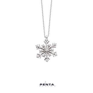 Penta Silver - Zirkon İnce Kar Tanesi Gümüş Kolye (1)