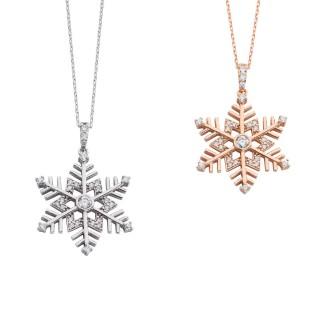 Zirkon Kar Tanesi Gümüş Kolye - Thumbnail