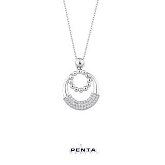 Penta Silver - Zirkon Taşlı Çelenk Gümüş Kolye (1)