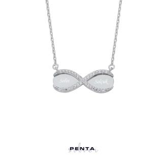 Penta Silver - Zirkon Taşlı Sonsuzluk İsimli Gümüş Kolye (1)