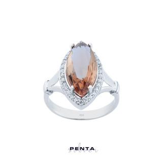 Penta Silver - Zultanit Markiz Anturaj Gümüş Yüzük
