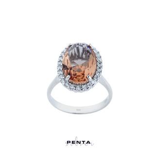 Penta Silver - Zultanit Oval Anturaj Gümüş Yüzük