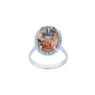 Zultanit Oval Anturaj Gümüş Yüzük - Thumbnail